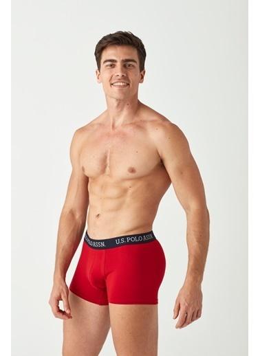 U.S. Polo Assn. Erkek 2 Li Boxer Kırmızı